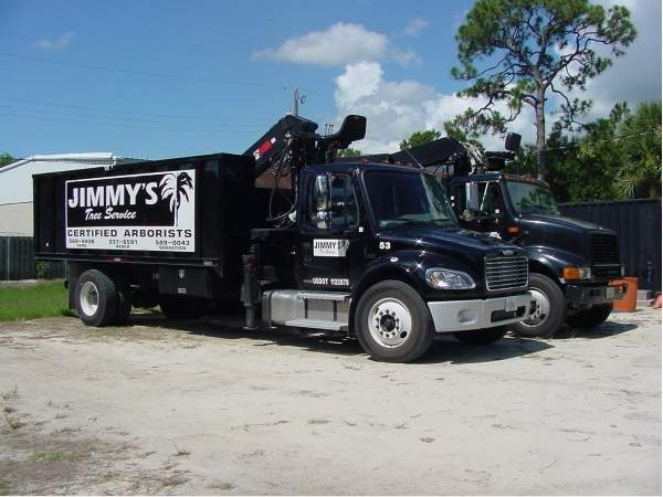 Jimmy's tree service trucks